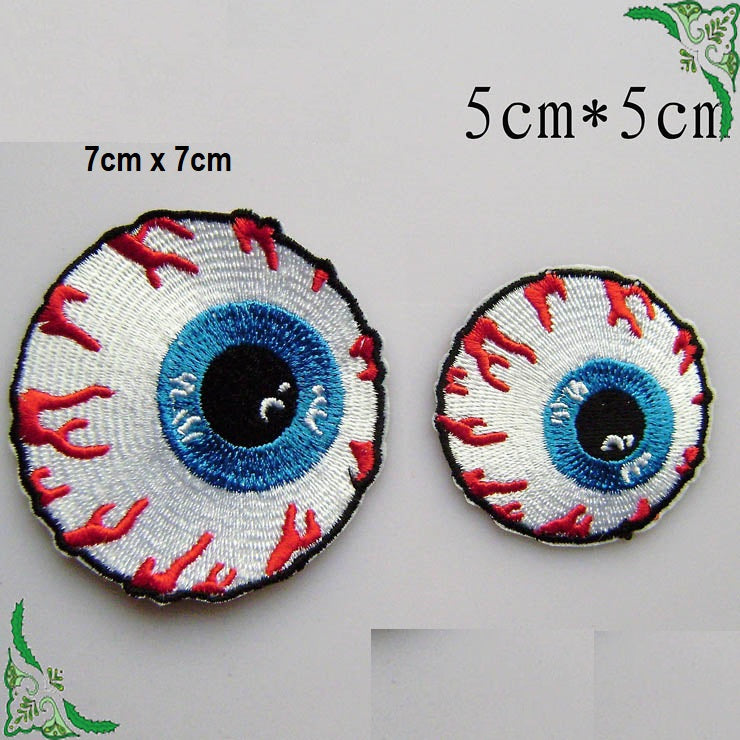 eyeball iron on patch weird patch funny iron on patch scary patch