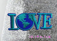 Love Embroidered Iron on Patch, sewing patch, LOVE