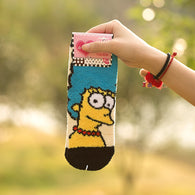 Cartoon socks, Simpson family socks, Marge Simpson socks, thick fluffy socks