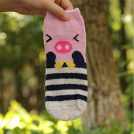 Cartoon socks, Pig socks, Funny animal socks, thick fluffy socks, winter socks