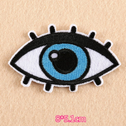 Eye Embroidered Iron On Patch, evil eye patch