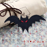 Bat Embroidered Iron On Patch, ghost patch, Halloween patch