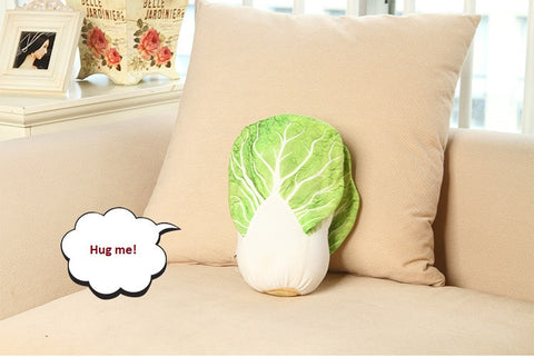 3D cabbage shape Plush Throw Pillow, funny looking.