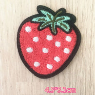 Strawberry Embroidered Iron On Patch, fruit patch, strawberry patch