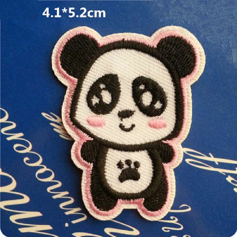 Panda Iron On Patch, panda patch, panda embroidered patch, animal patch