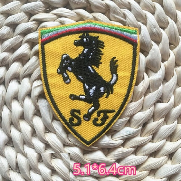 Ferrari Embroidered Iron On Patch, Ferrari sewing patch, Ferrari patch