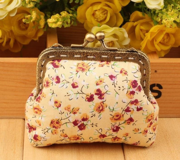 DIY Purse Sewing Kit Supply: 8.5 cm, pre-cut, 1-piece style, light Pink Flowers