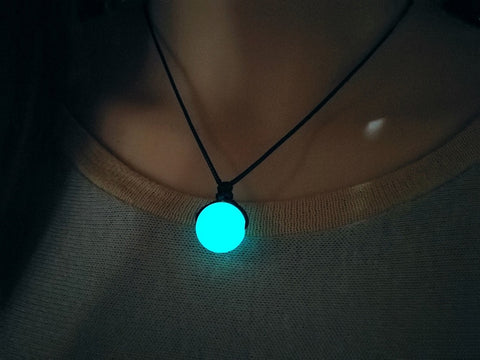 Handmade Choker, Glow in the Dark necklace, adjustable chain