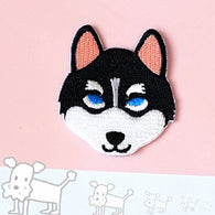 Husky Embroidered Iron On Patch, Dog sewing patch, Dog patch