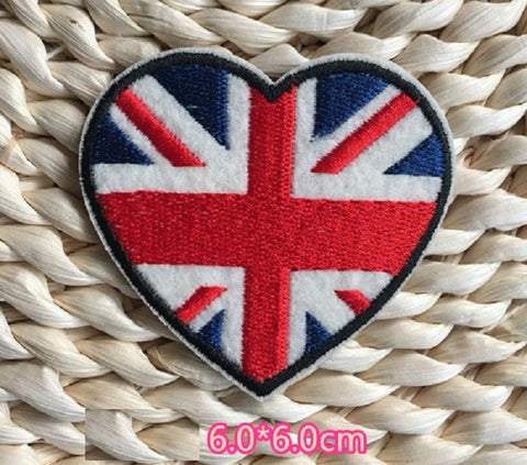 UK Flag Embroidered Iron On Patch, sewing patch, UK flag patch, BG flag, England