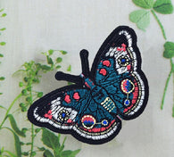 Butterfly patch, butterfly Embroidered patch, butterfly Iron On Patch