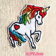 Unicorn Embroidered Iron On Patch, unicorn sewing patch, horse patch