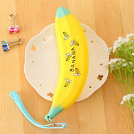Banana shape yellow pencil case
