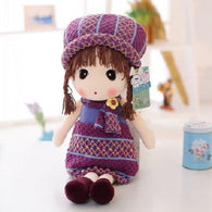 17'' Stuffed Plush toy, Girl in purple skirt, cute doll, gift for girls, beautiful doll