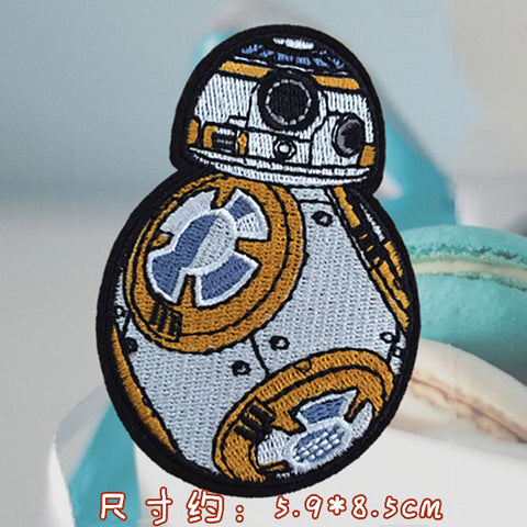 Star Wars Iron On Patch, Star Wars Embroidered Patch, BB8 patch, BB-8 robot, Star Wars patch