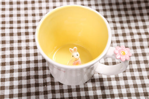 Coffee mug 3D cute animal inside, 550ml
