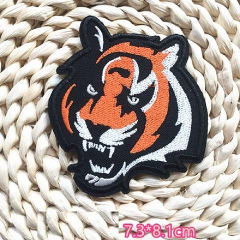 Tiger Embroidered Iron On Patch, tiger patch, cloth patch