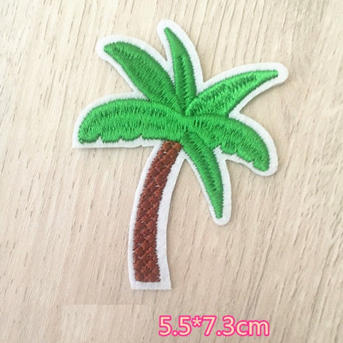 Palm Tree Embroidered Iron On Patch, coconut tree patch, Tree patch, tropical tree