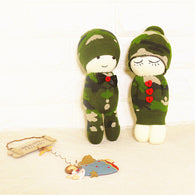 Socks doll making kit: army kid