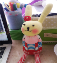 Socks Bunny making kit, sock animal making kit, make a sock rabbit