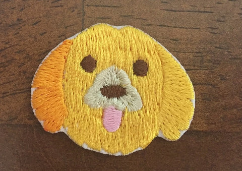 Dog Embroidered Patch, Dog Iron On Patch, cute small clothes patch