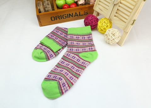 Colorful socks, stripes socks, stripes cotton socks, multicolored socks