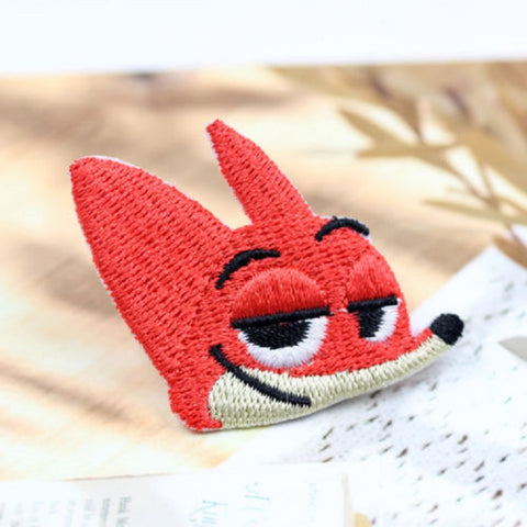 Zootopia embroidered Iron On Patch, cartoon Iron On Patch, Fox head