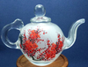 Handmade Inner Painted Art Glass Teapot