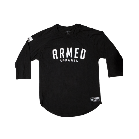 Bold Armed Baseball Raglan - Black