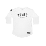 Bold Armed Baseball Raglan - White