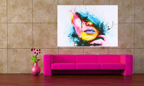 Sexy Graffiti Canvas Art