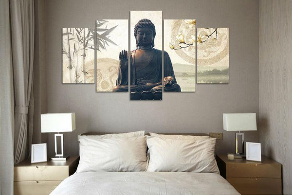 Green Buddha Statue Canvas