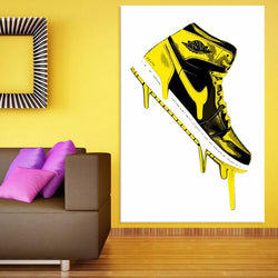 Graffiti Air Jordan Canvas