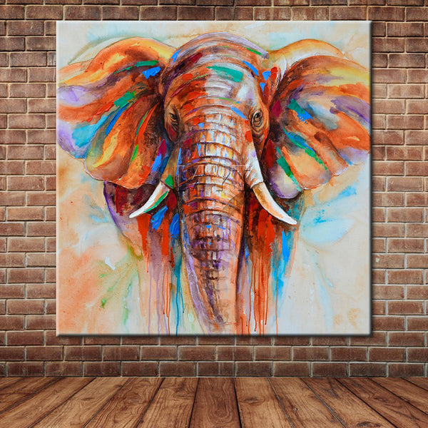 Watercolor Elephant Canvas