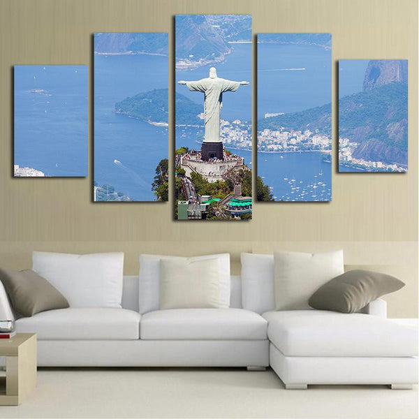 5 Piece Christ the Redeemer Wall Art