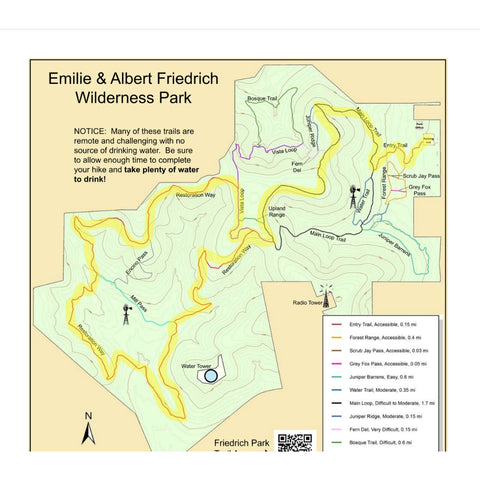 Kitty Loop route at Friedrich Wilderness Park