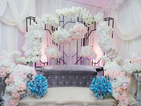 Wedding Backdrops Ceremony Background Curtain Backdrops HJ04916
