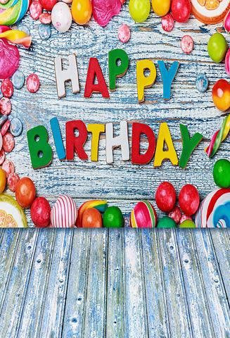 Birthday Backdrops Wood Backgrounds Customized Backdrop J04036