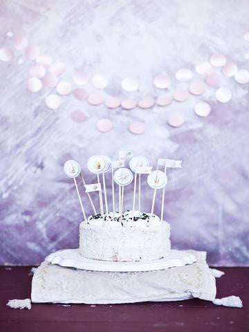 Birthday Background Cake Backdrops Purple Backdrop J04953