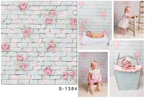 Backdrop by Theme Baby Backdrops Flower Wall Background S-1384