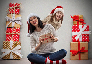 Pile of Presents Wall Background Christmas Backdrops IBD-19413