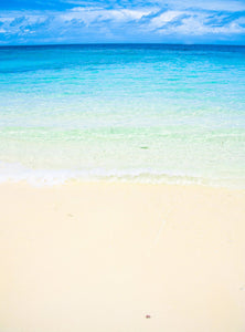 Beach Vacation Background Summer Blue Sky Backdrop IBD-201231