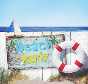 Beach party background Children Photography Backdrops IBD-19334