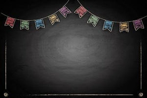 Black Color Board Flag Background Birthday Backdrop for Children Photography IBD-19561