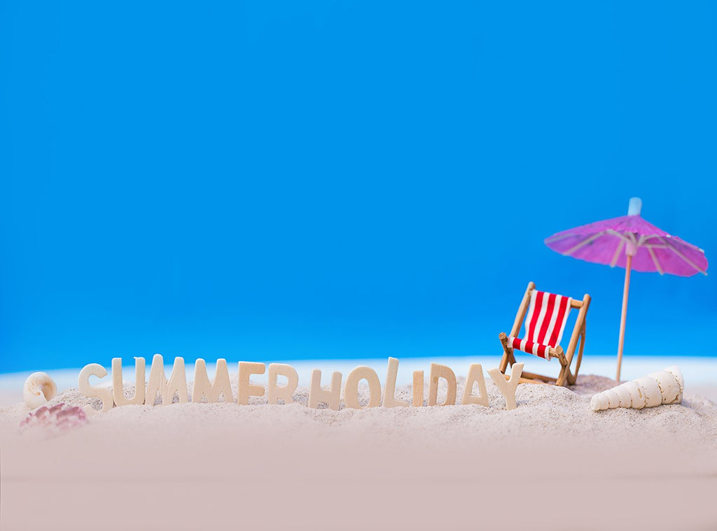 Summer Blue Sky Vacation Background Scenic Beach Backdrop IBD-201233