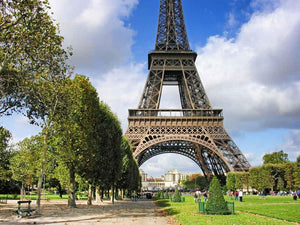 Attractions Iconic Landmarks Backdrop Eiffel Tower Background CM-5878-E