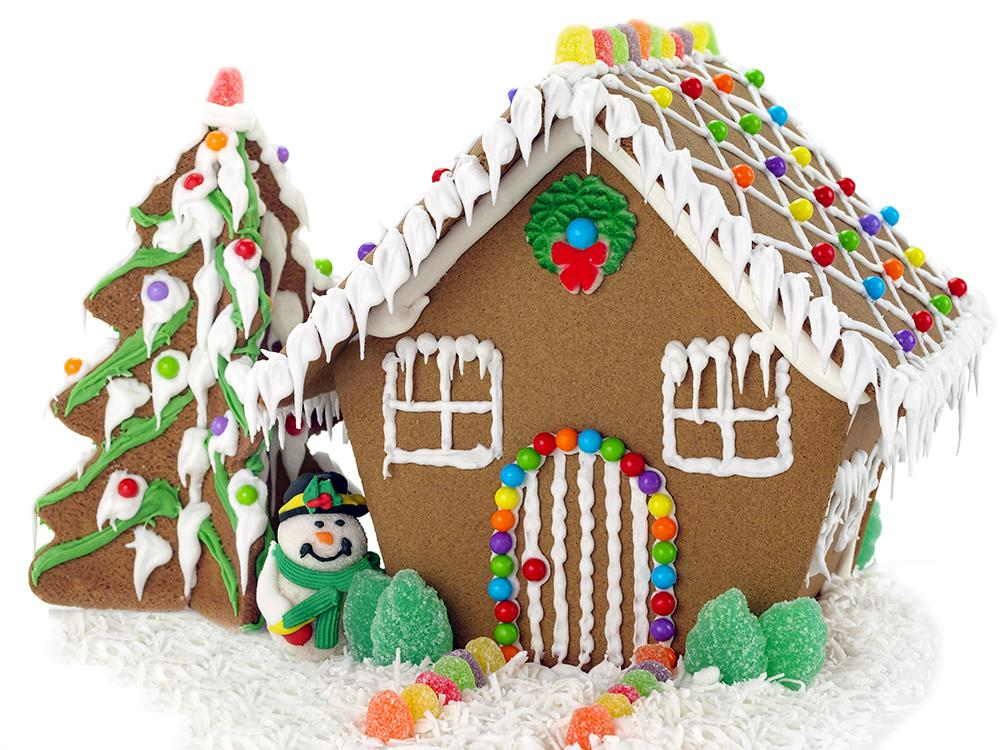 Cake Snow House Background Christmas Backdrops for Party Ideas IBD-19232