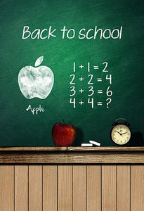 Children Mathematical Blackboard Platform Background School Backdrops for Photo IBD-19710