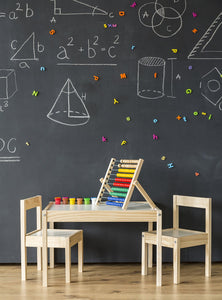 Children's Small Desk Blackboard Background Teaching Decoration Photography Backdrop IBD-20011