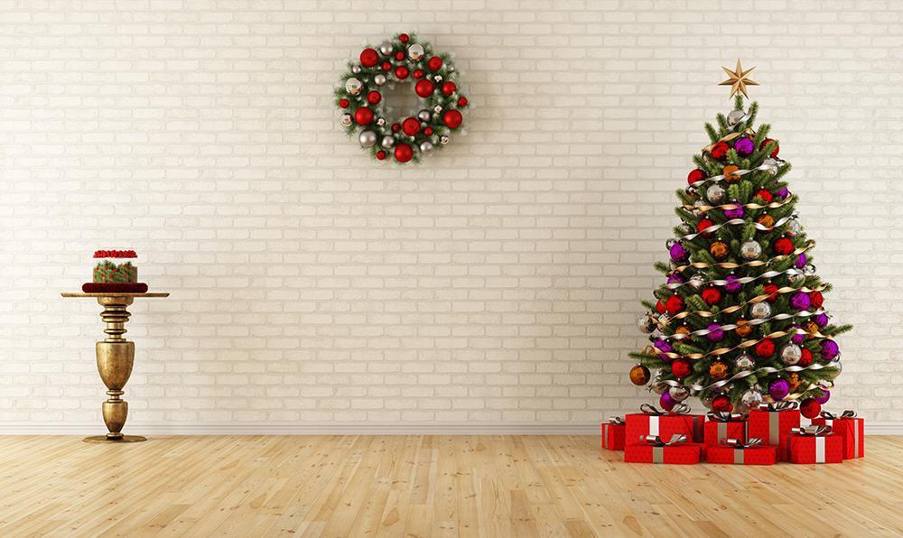Christmas Photography Wall Background Festvial Backdrops IBD-19396